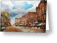 City - Arkansas - Main St 1925 Greeting Card