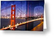City Art Golden Gate Bridge Composing Greeting Card