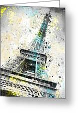 City-art Paris Eiffel Tower Iv Greeting Card