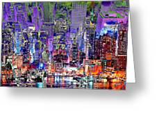 City Art Syncopation Cityscape Greeting Card