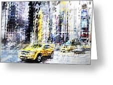 City-art Times Square Streetscene Greeting Card