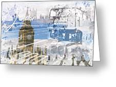City Art Westminster Collage Greeting Card