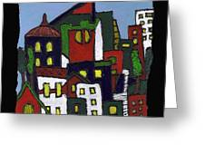 City At Christmas Greeting Card
