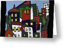 City At Christmas Greeting Card