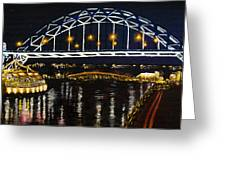 City At Night Greeting Card