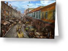 City - Baltimore Md - Traffic On Light Street - 1906 Greeting Card