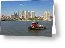 City - Camden Nj - The City Of Philadelphia Greeting Card