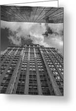 City Canyon Black And White Greeting Card
