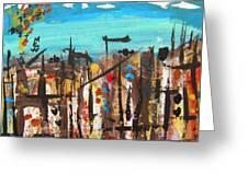 City Chaos Greeting Card