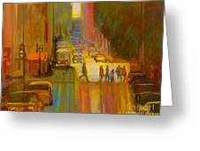 City Crosswalk Greeting Card