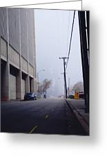 City Fog Greeting Card