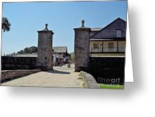 City Gate Of St Augustine Greeting Card