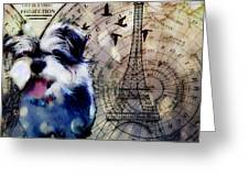 City Girl Goes To Paris Greeting Card by Delight Worthyn