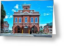 City Hall And Fire Department Greeting Card