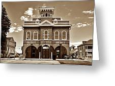 City Hall And Fire Department S Greeting Card