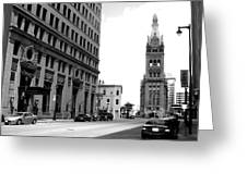 City Hall B-w Greeting Card