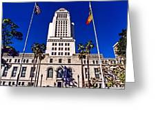 City Hall La Greeting Card