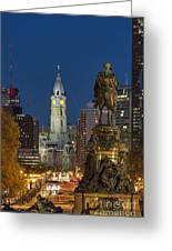City Hall Philadelphia Greeting Card by John Greim