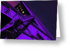 City Hall Stairs, In Indigo Greeting Card