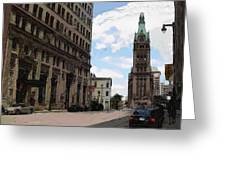 City Hall View From South Greeting Card
