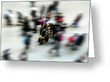 City In Movement Greeting Card