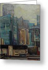 City In The Cityscape Greeting Card