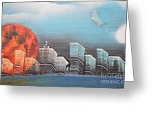 City In The Day. Greeting Card