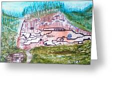 City In The Wall Greeting Card