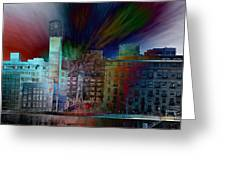 City In Transmission Greeting Card