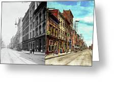 City - Knoxville Tn - Gay Street 1903 - Side By Side Greeting Card