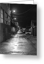 City Lane At Night Greeting Card