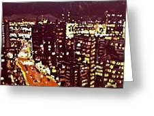 City Lights Greeting Card