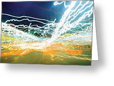 City Lights Chaos Greeting Card