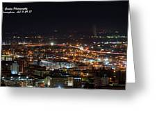 City Lights Over Bham, Al Greeting Card