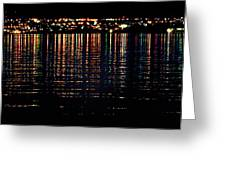 City Lights Upon The Water 1 Greeting Card
