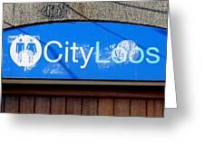 City Loos Greeting Card