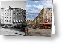City - New York Ny - Fraunce's Tavern 1890 - Side By Side Greeting Card