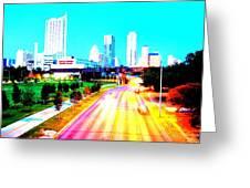 City Of Austin From The Walk Bridge Greeting Card