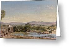 City Of Mexico From The Hacienda De Los Morales Greeting Card
