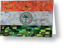 City Of Miami Flag Greeting Card