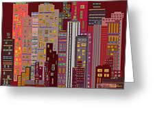 City Of Night Greeting Card