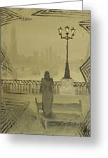 City Of November - Waiting For Thoughts To Go Greeting Card