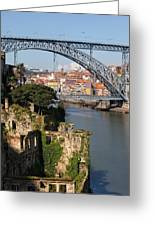 City Of Porto In Portugal Picturesque Scenery Greeting Card