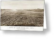 City Of San Jose County Of Santa Clara 1875 Greeting Card