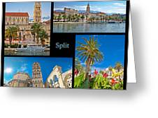 City Of Split Nature And Architecture Collage Greeting Card
