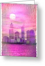 City On Night View Greeting Card