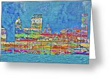 City On The Water Greeting Card