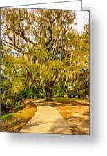 City Park New Orleans - Paint Greeting Card
