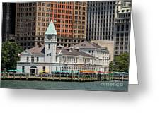 City Pier A And Pier A Harbor House In New York City Greeting Card