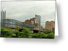 City - Pittsburgh Pa - The Grand City Of Pittsburg Greeting Card